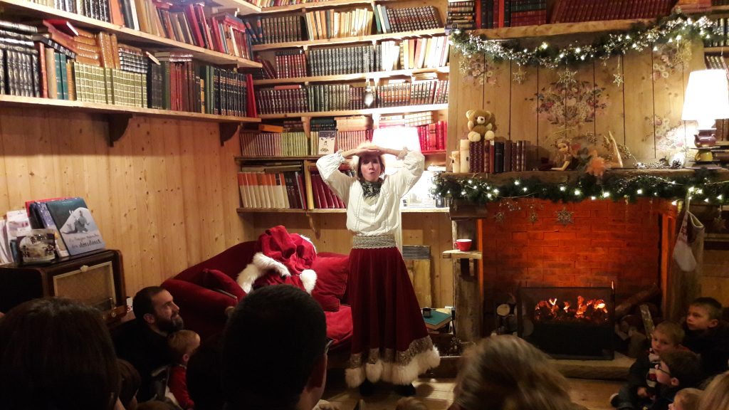 Mother Christmas is telling a story for children
